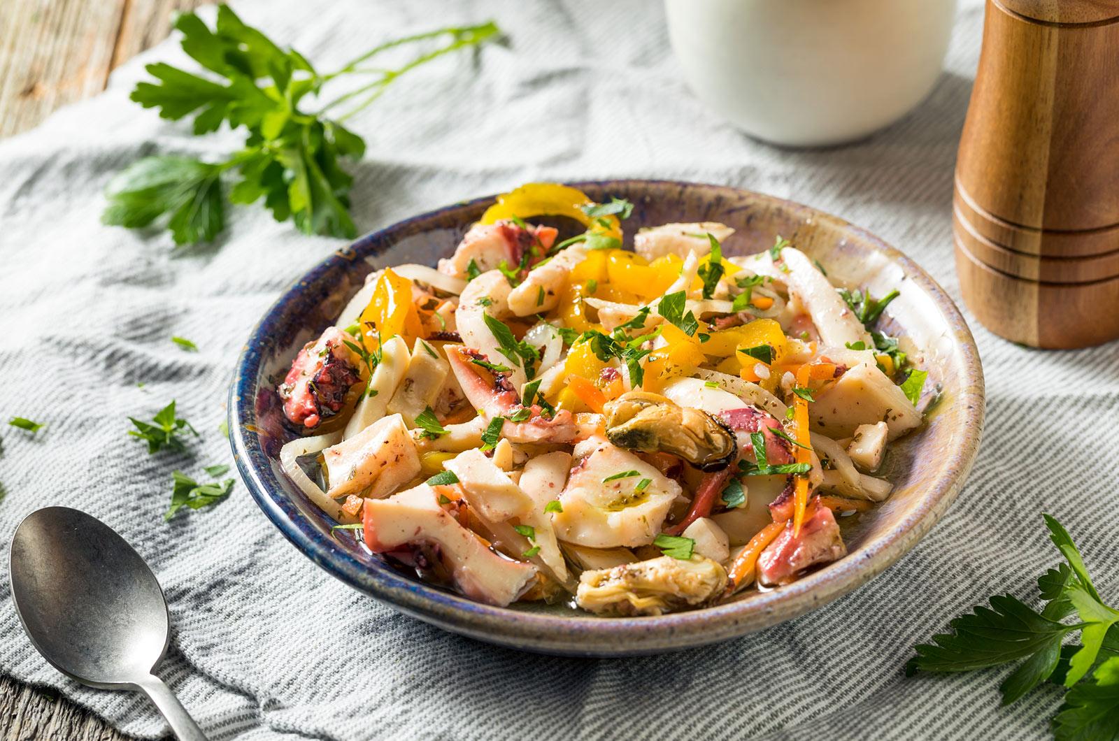 Σαλάτα θαλασσινών Xenia συνταγή